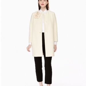 Kate Spade Tweed Corsage Coat